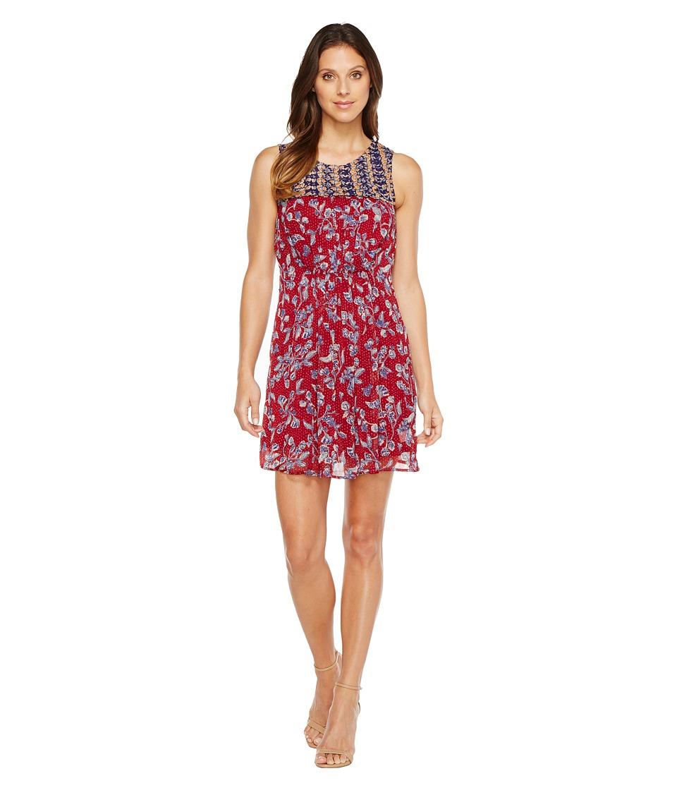 Lucky Brand Mixed Print Dress (Red Multi) Women