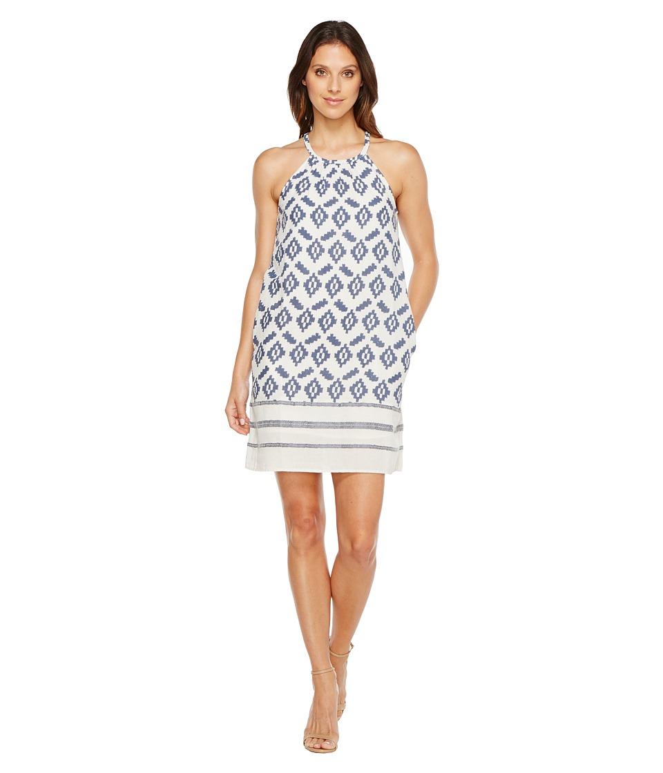 Lucky Brand Diamond Dress (Blue Multi) Women
