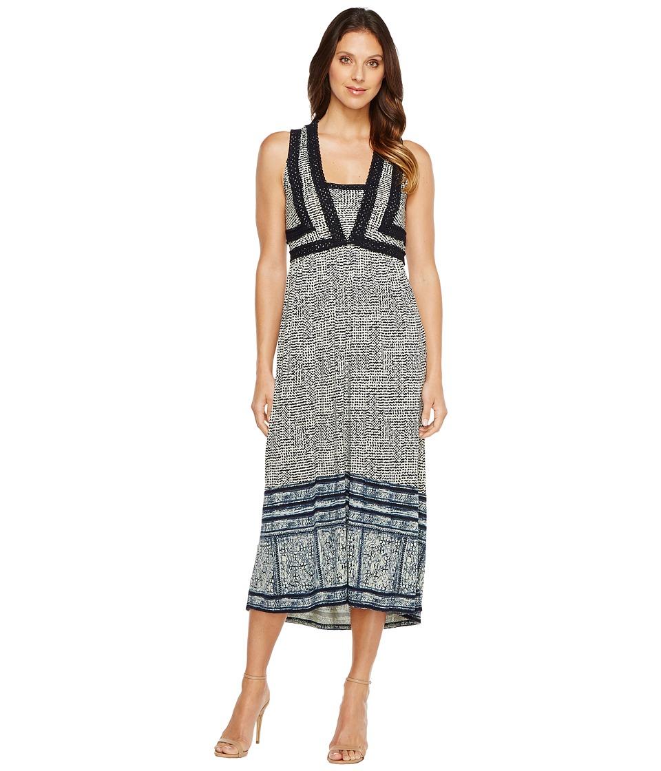 Lucky Brand Crochet Knit Dress (Navy Multi) Women