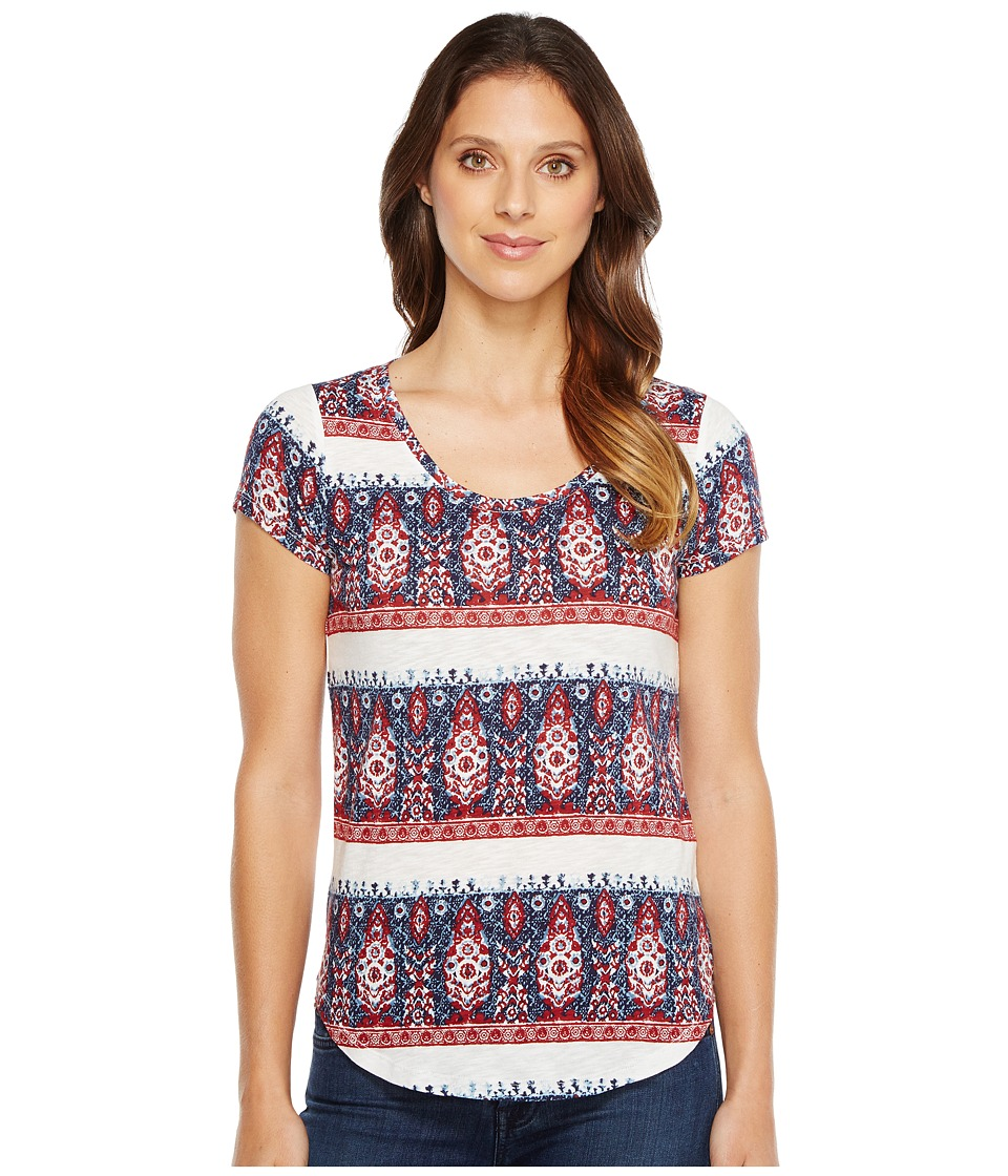 Lucky Brand Bandana Stripe Tee (Multi) Women