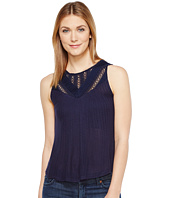 Lucky Brand - Mixed Lace Yoke Tank Top