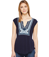 Lucky Brand - Embroidered Bib Tank Top