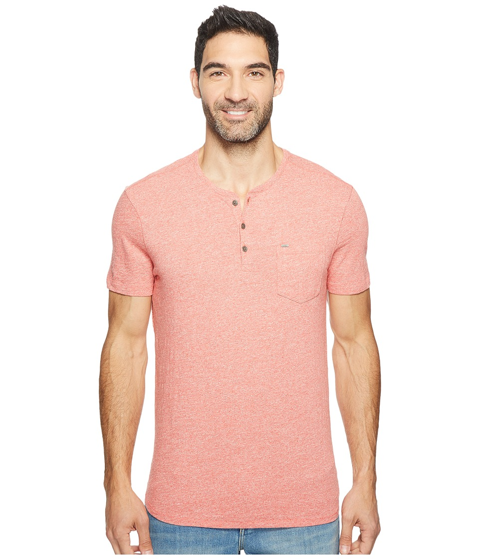 Calvin Klein Jeans Slub Grindle Pocket Henley (Salmon) Men