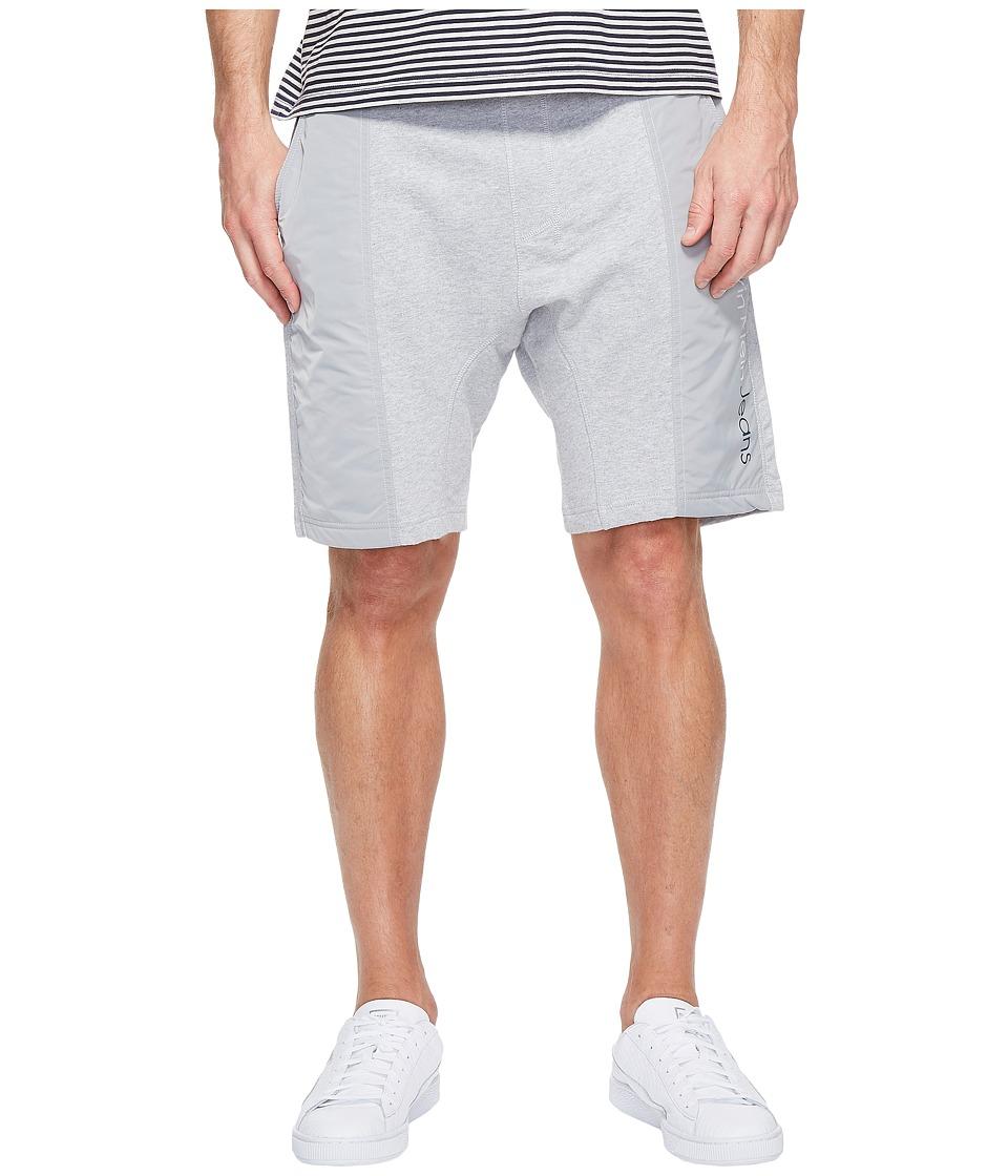 Calvin Klein Jeans Rebel Sport Mixed Nylon Shorts (Light Grey Heather) Men