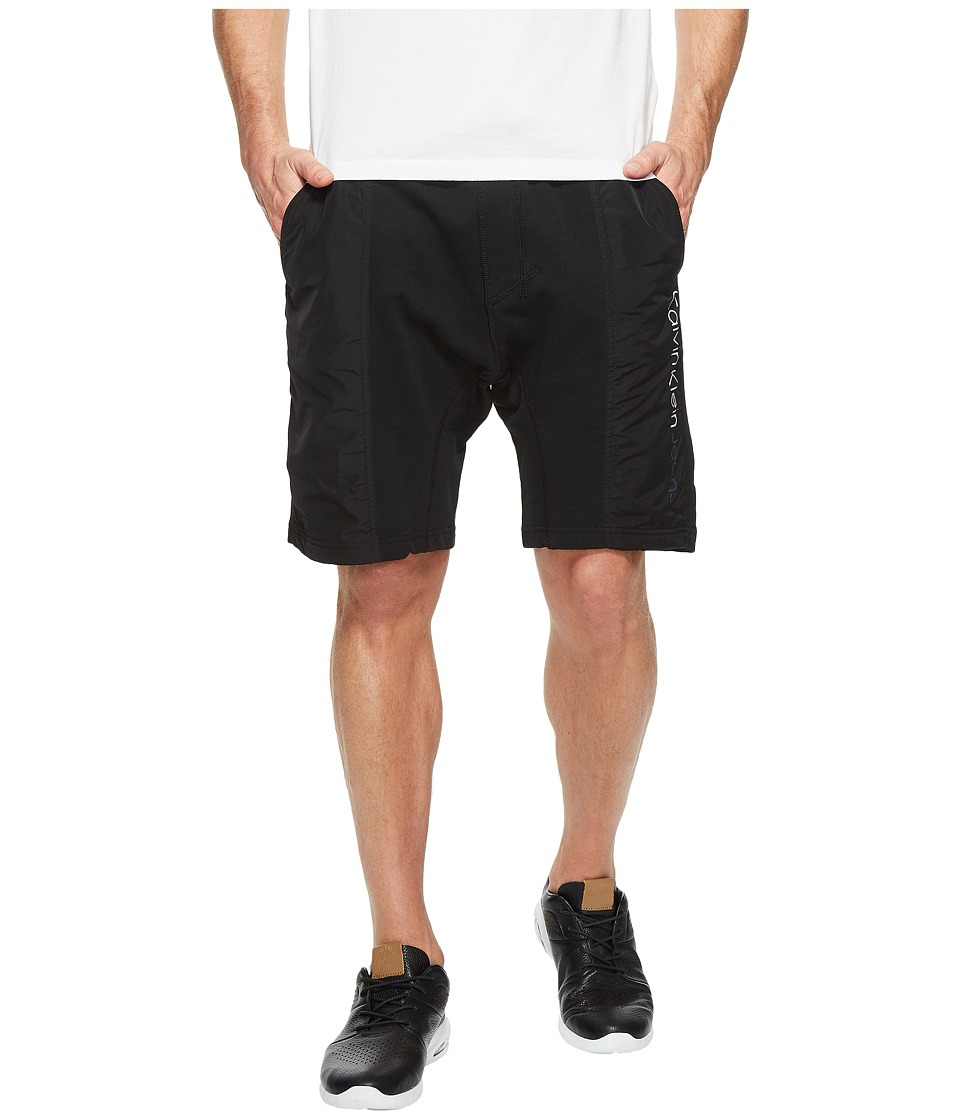 Calvin Klein Jeans Rebel Sport Mixed Nylon Shorts (Black) Men