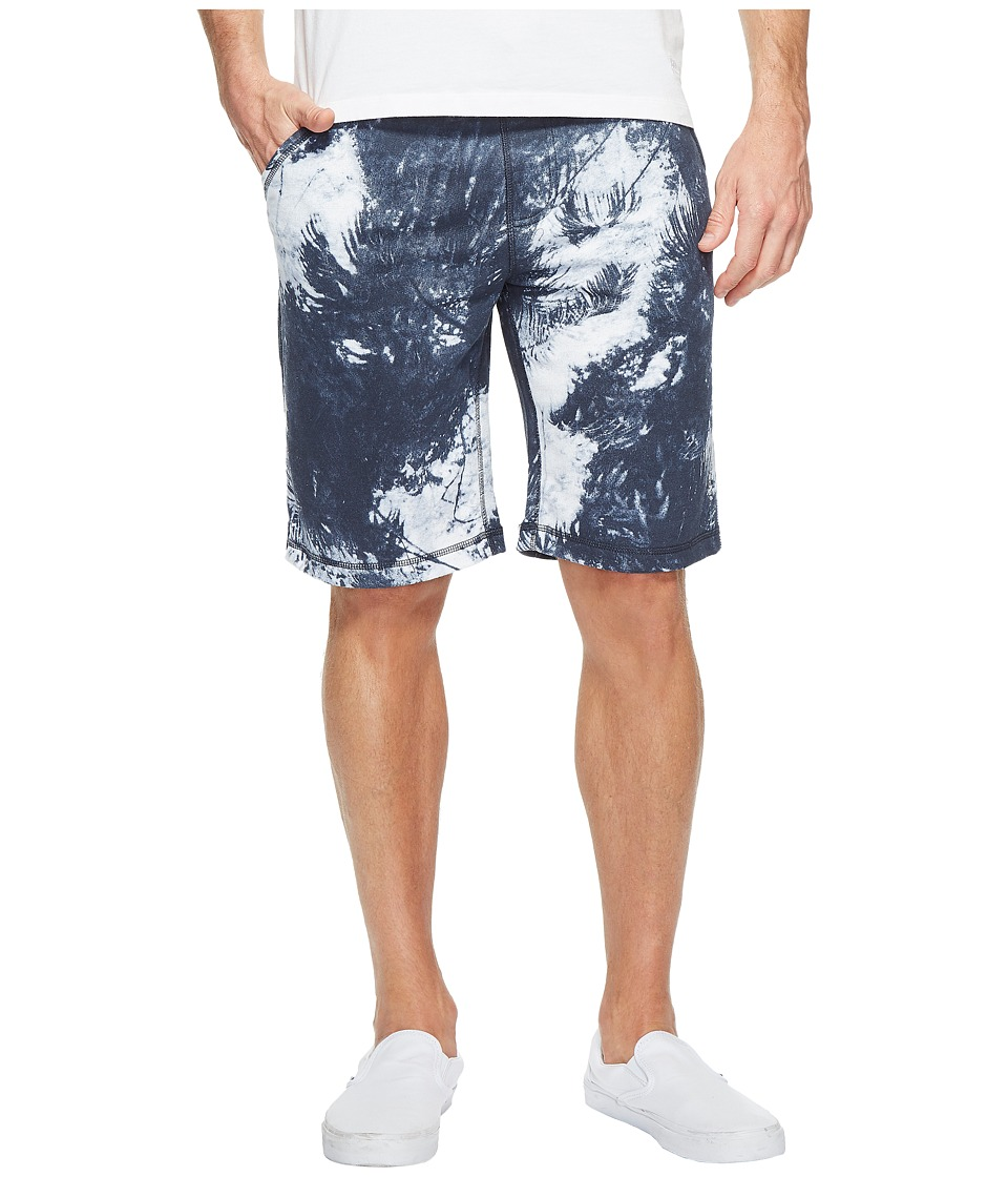 Calvin Klein Jeans Palm Print Shorts (Black Iris) Men