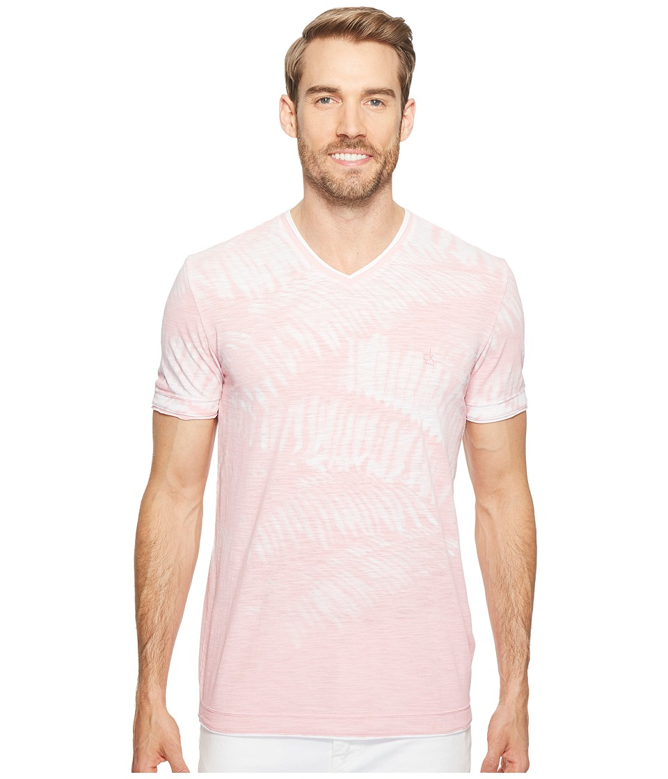 Calvin Klein Jeans Weekend Palms V-Neck T-Shirt (Foxglove) Men