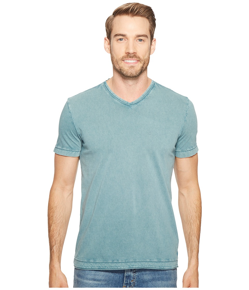 Calvin Klein Jeans Weekend Acid Wash V-Neck T-Shirt (Keel Blue) Men