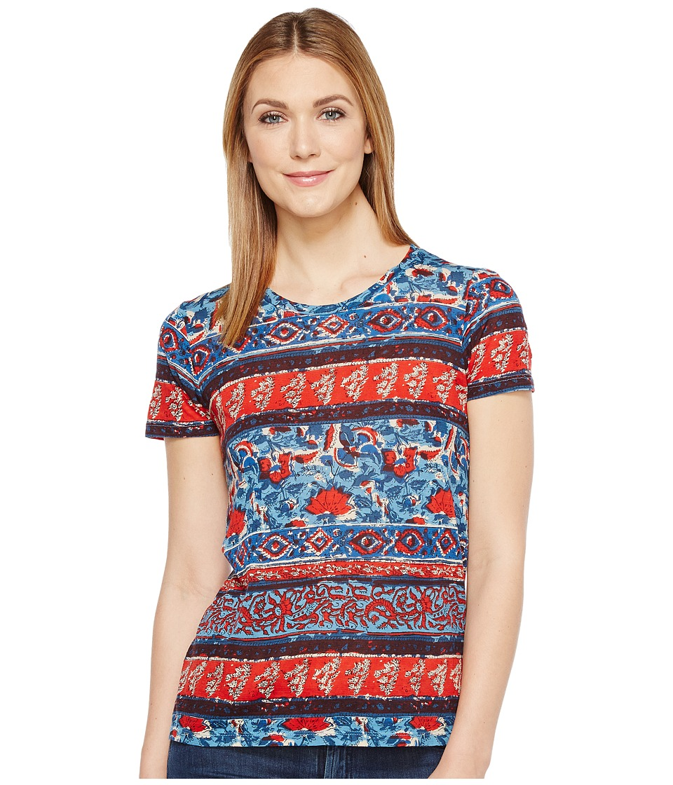 Lucky Brand Americana Tee (Red Multi) Women