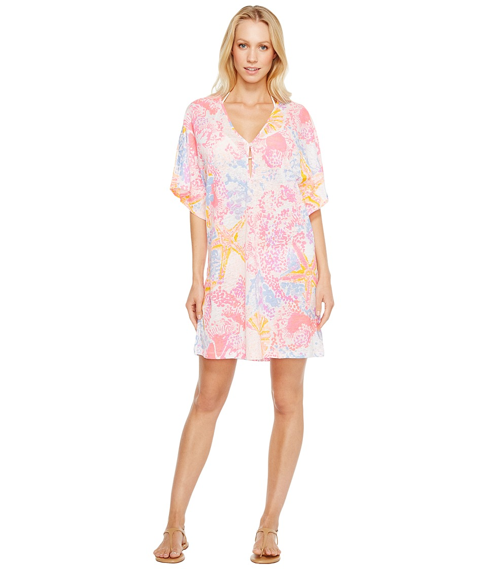 Lilly Pulitzer Balleta Cover-Up (Paradise Pink Bohemian Beach) Women