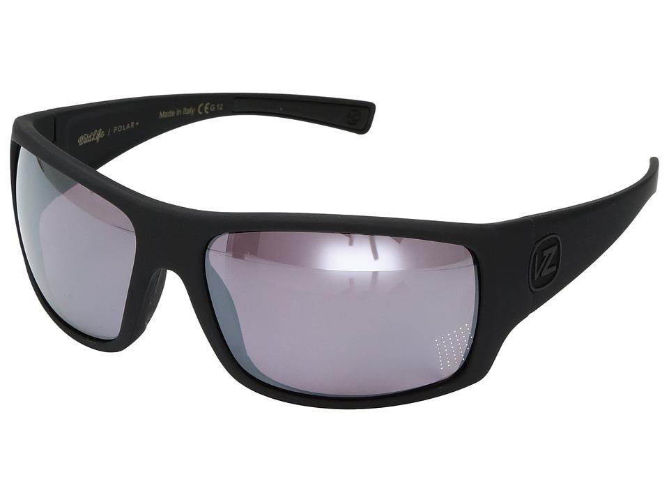 VonZipper Suplex Polarized (Black Satin/Wild Rose Chrome Polar Plus) Fashion Sunglasses