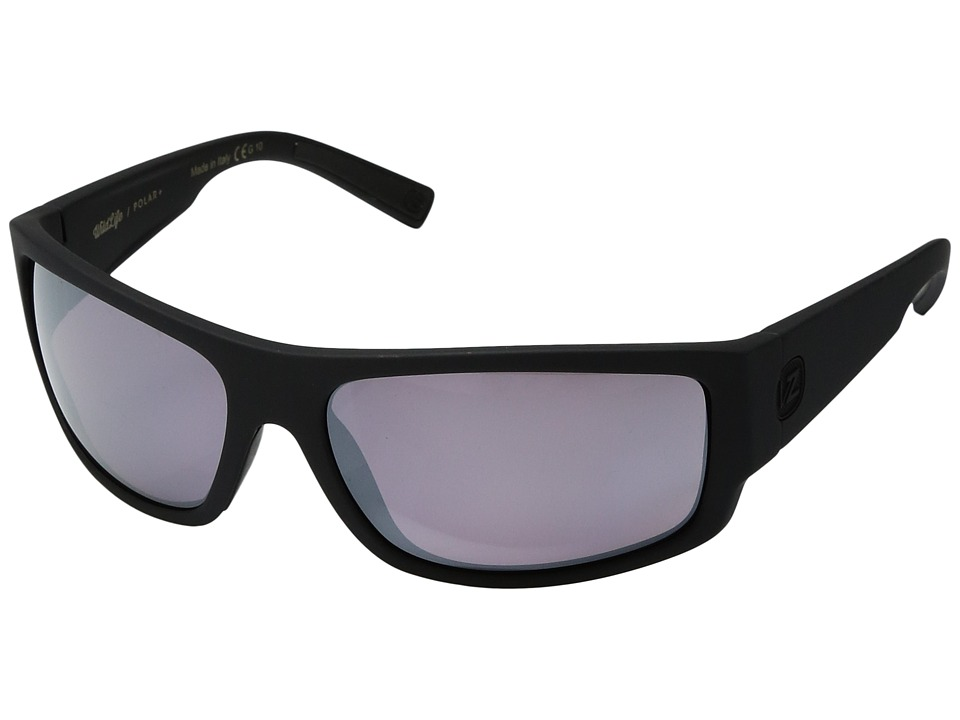 VonZipper Semi Polar (Black Satin/Wilde Rose Chrome Polar Plus) Polarized Fashion Sunglasses