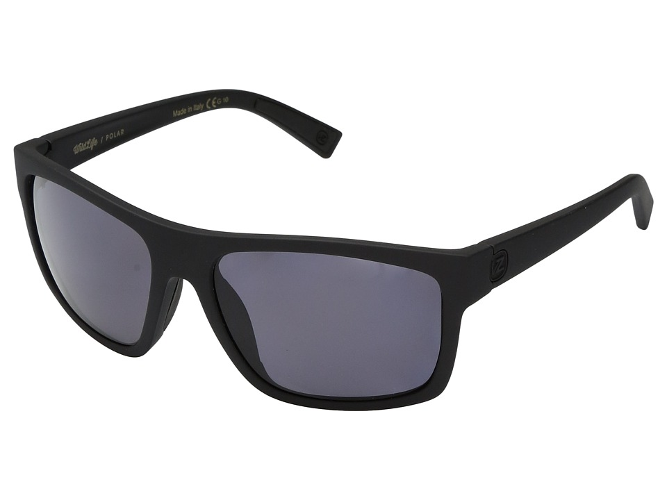 VonZipper Speedtuck Polar (Black Satin/Wild Vintage Grey Polar) Fashion Sunglasses