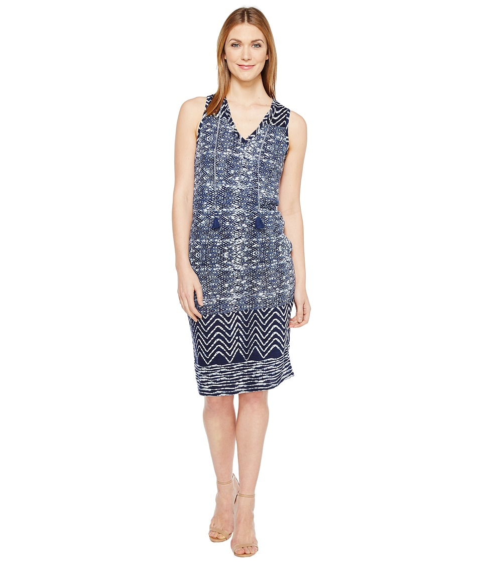 Lucky Brand Blue Batik Dress (Navy Multi) Women's Dress