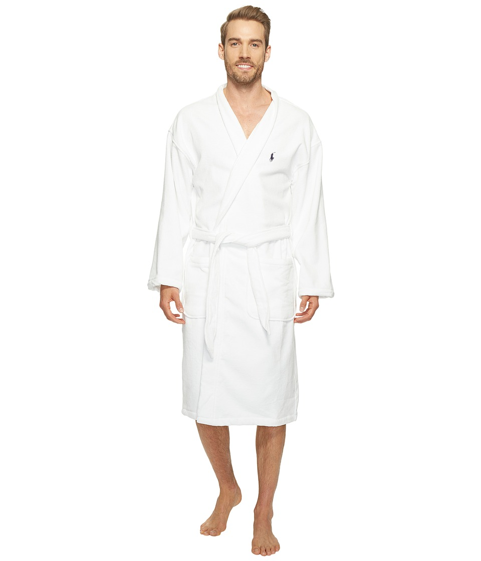 Ralph Lauren Velour Kimono Robe (White) Men's Robe