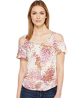 Lucky Brand - Floral Cold Shoulder Top