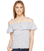 Lucky Brand - Space Dyed Ruffle Top