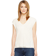 Lucky Brand - V-Neck Mixed Stitch Sweater