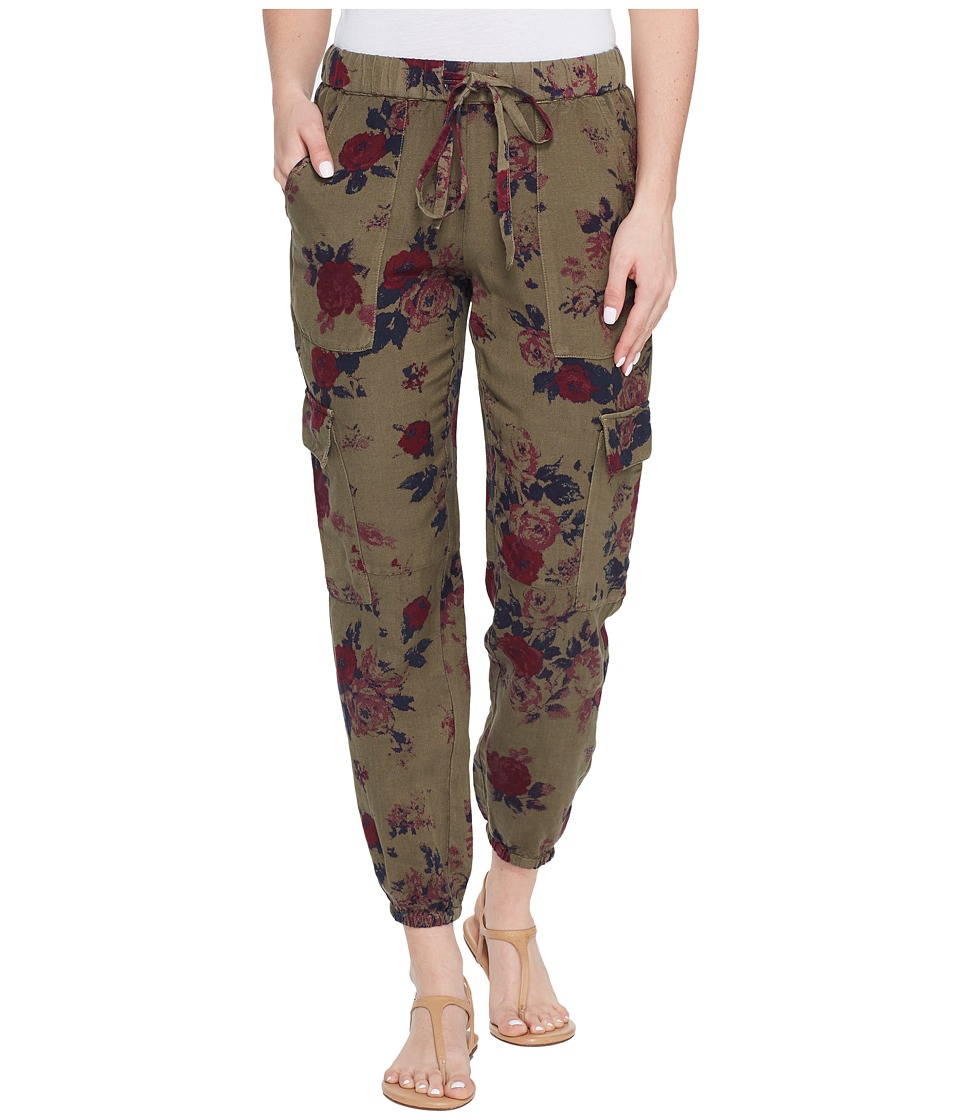 Lucky Brand Printed Cargo Pants (Olive Multi) Women
