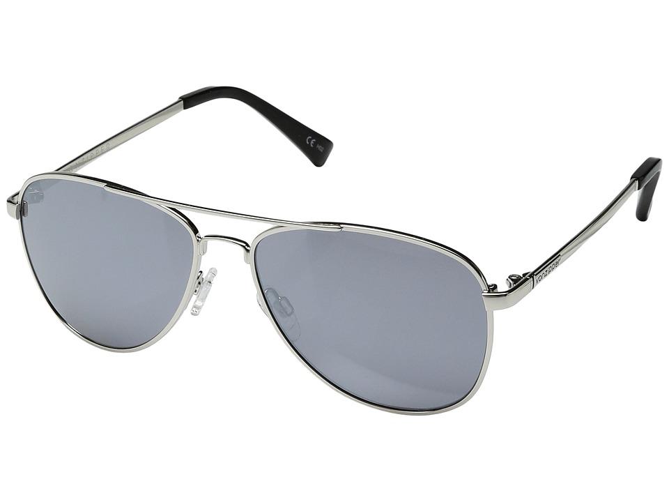 VonZipper Statey (Silver Gloss/Grey Chrome) Sport Sunglasses