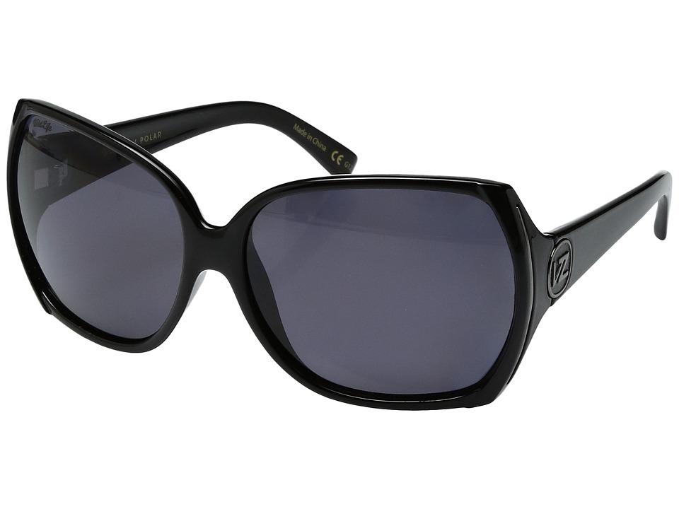 VonZipper Trudie Polar (Black Gloss/Wild Vintage Grey Polar) Sport Sunglasses
