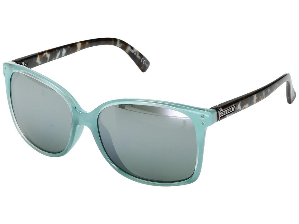 VonZipper Castaway (Mint Crystal Tortoise/Silver Chrome Gradient) Sport Sunglasses