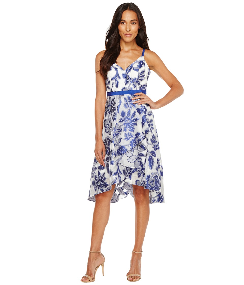 Adrianna Papell - Burnout Jacquard Fit Flare Dress