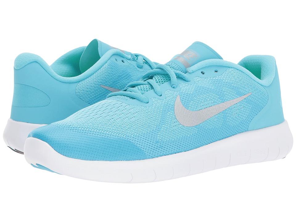 Nike Kids - Free RN 2017 (Big Kid) (Polarized Blue/Metallic Silver/Blue Fury) Girls Shoes