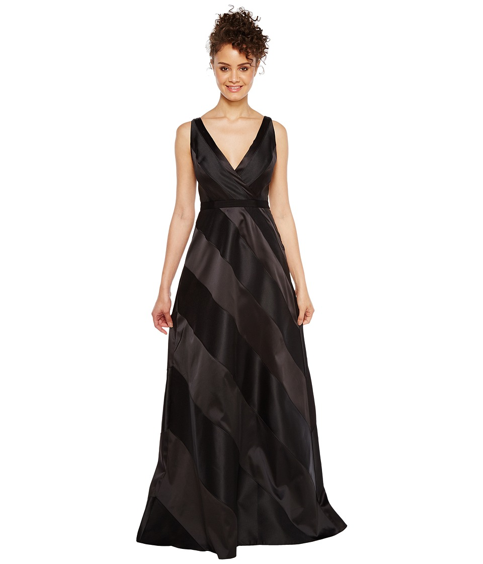 Adrianna Papell - Fabric Combo Ball Gown