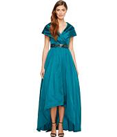 Adrianna Papell - Silky Taffeta Shawl Gown
