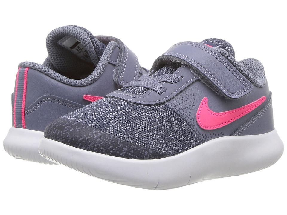 Nike Kids Flex Contact (Infant/Toddler) (Dark Sky Blue/Racer Pink/Thunder Blue) Girls Shoes