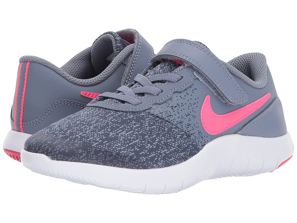 Nike Kids Flex Contact PSV (Little Kid) (Dark Sky Blue/Racer Pink/Thunder Blue) Girls Shoes