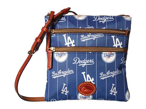 Dooney & Bourke MLB North/South Triple Zip Crossbody Bag - Dodgers
