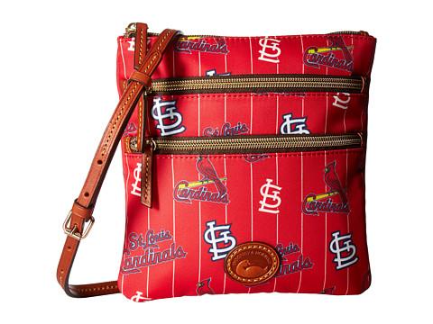 Dooney & Bourke MLB North/South Triple Zip Crossbody Bag - Cardinals