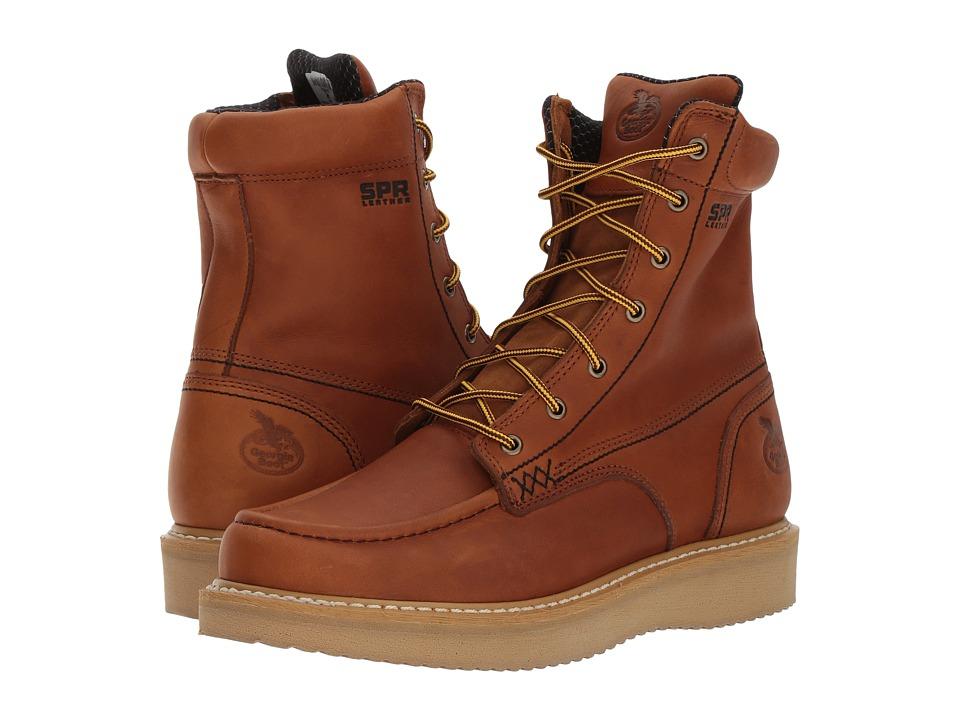 Georgia Boot - 8 Moc Toe Wedge (Barracuda Gold) Mens Work Boots