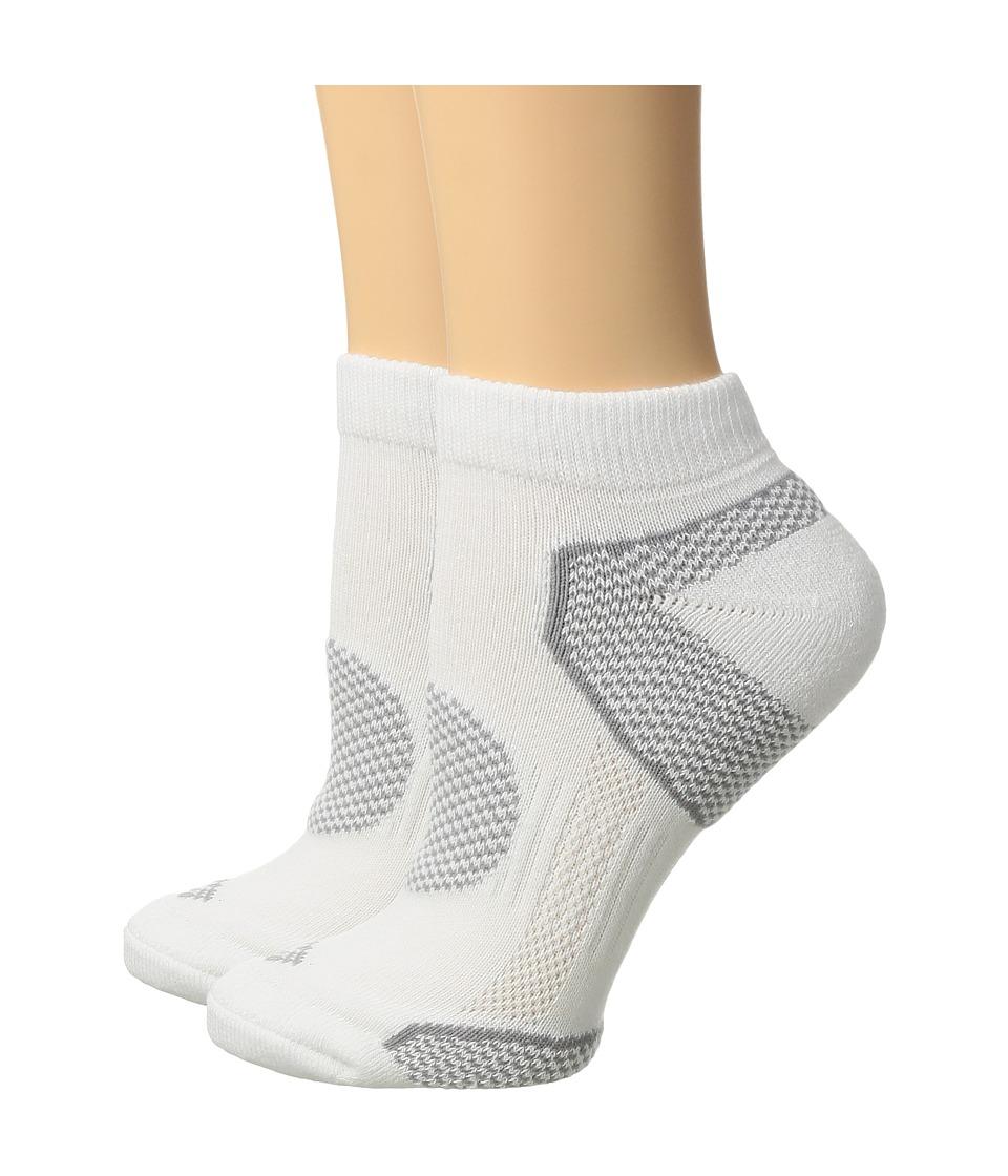 Columbia 2-Pack Low Cut Walking Socks (White) Women's Low...