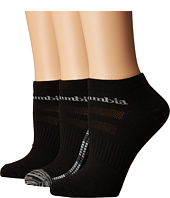 Columbia - 3-Pack No Show Mini Ombre Square Flat Knit Socks