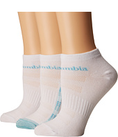 Columbia - 3-Pack No Show Mini Ombre Square Flat Knit Socks