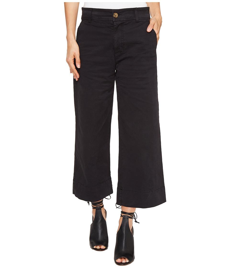 Lucky Brand Wide Leg Crop in Lucky Black (Lucky Black) Women