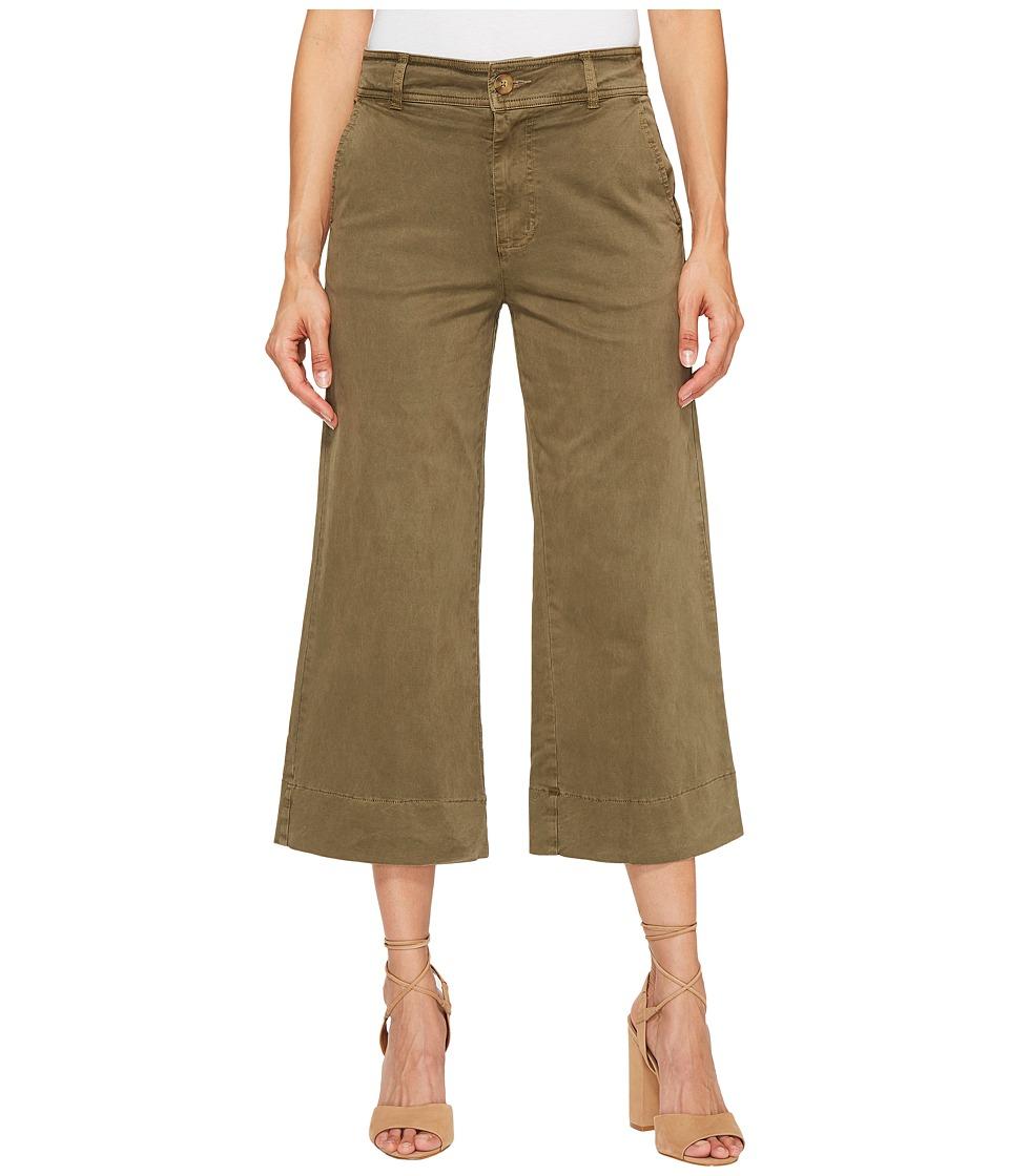 Lucky Brand Wide Leg Crop in Dark Olive (Dark Olive) Women