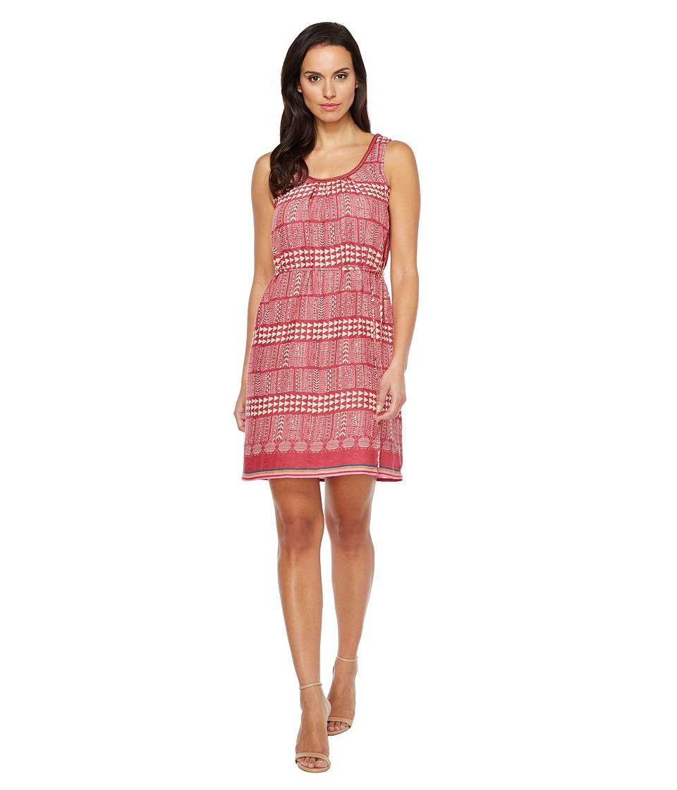 Lucky Brand Geo Print Dress (Red Multi) Women