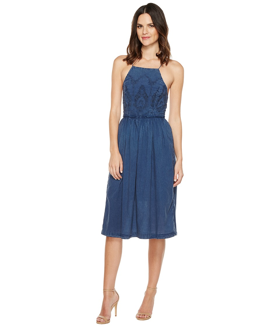 Lucky Brand Schiffli Bib Dress (Insignia Blue) Women