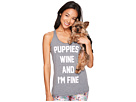 Puppies Make Me Happy Racerback Tank Top