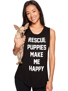 Puppies Make Me Happy - Rescue Puppies Title - Sleeveless