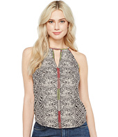 Lucky Brand - Paisley Trim Tank Top