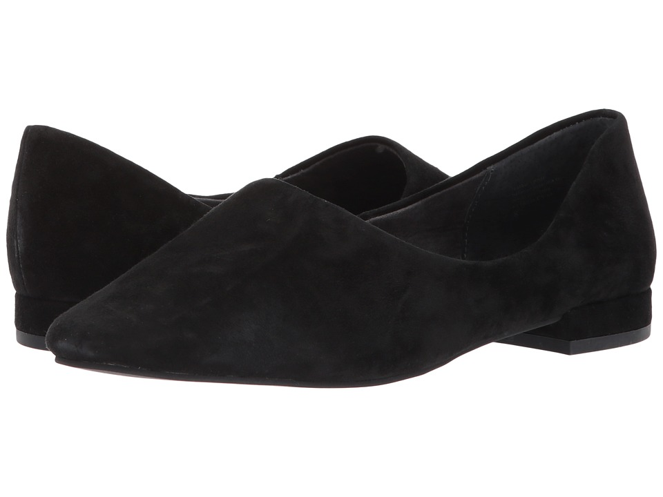 Retro Vintage Flats and Low Heel Shoes Seychelles - Role Black Suede Womens Shoes $95.00 AT vintagedancer.com