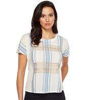 Lucky Brand - Metallic Embroidered Top