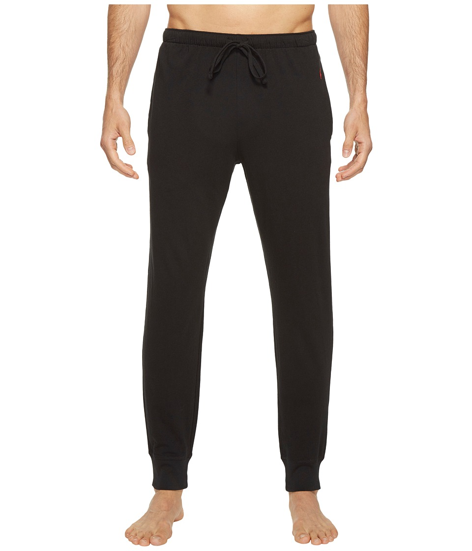 Ralph Lauren Relaxed Fit Jersey Jogger Pants (Polo Black/...