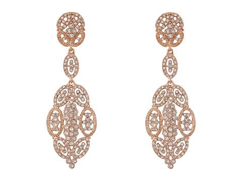 Nina Jules Glamorous Statement Swarovski Earrings - Rose Gold/Silk