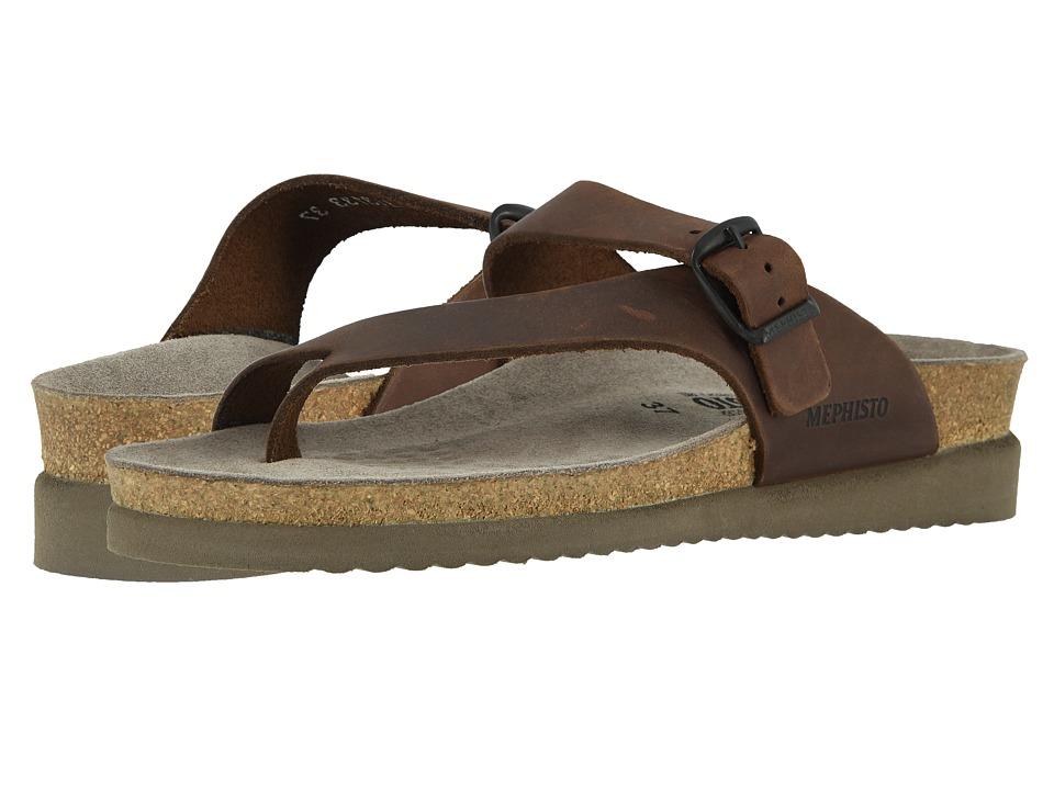 Mephisto Helen (Dark Brown Scratch Leather) Sandals